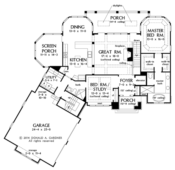 Traditional Floor Plan - Main Floor Plan Plan #929-980