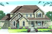Country Style House Plan - 3 Beds 2.5 Baths 2150 Sq/Ft Plan #455-168 Exterior - Front Elevation