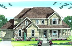 Country Exterior - Front Elevation Plan #455-168