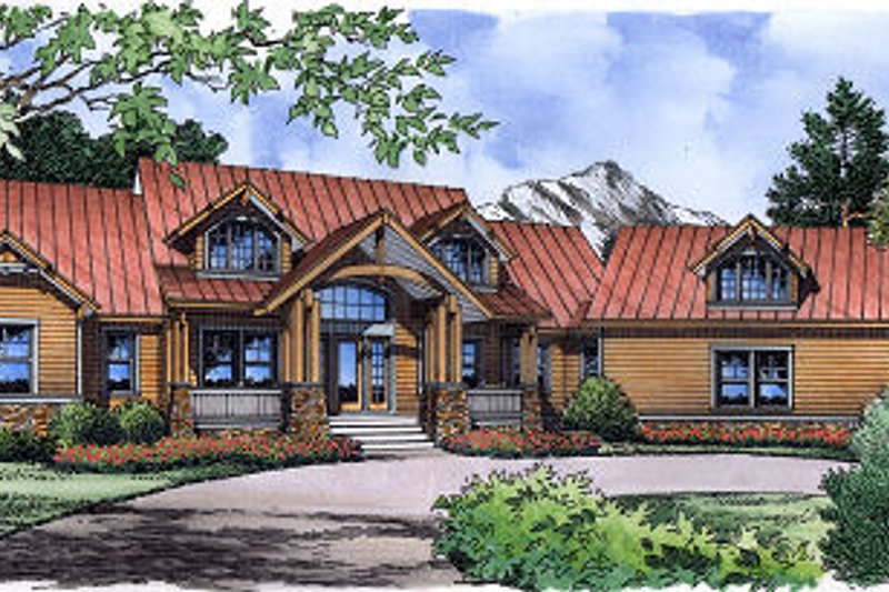 Dream House Plan - Traditional Exterior - Front Elevation Plan #417-410