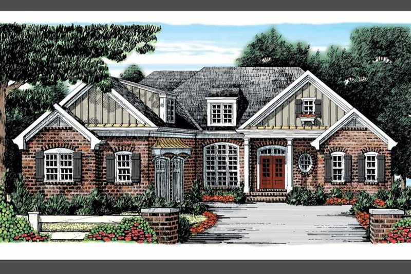 Home Plan - Country Exterior - Front Elevation Plan #927-879