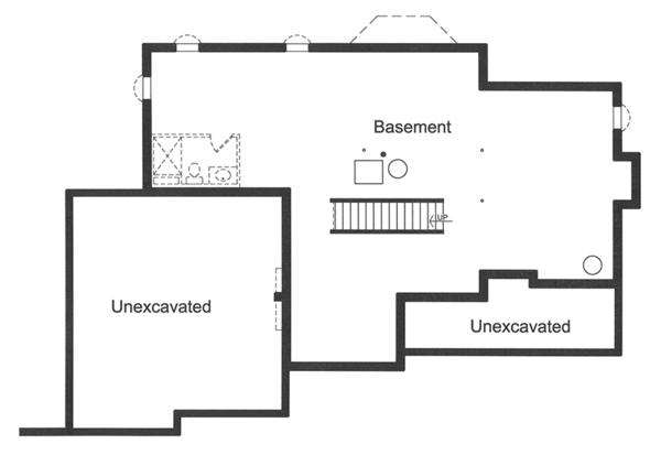 European Floor Plan - Lower Floor Plan Plan #46-849