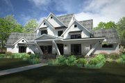 Country Style House Plan - 4 Beds 4.5 Baths 4839 Sq/Ft Plan #120-250 Exterior - Front Elevation