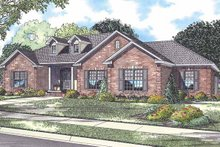 Country Exterior - Front Elevation Plan #17-2913