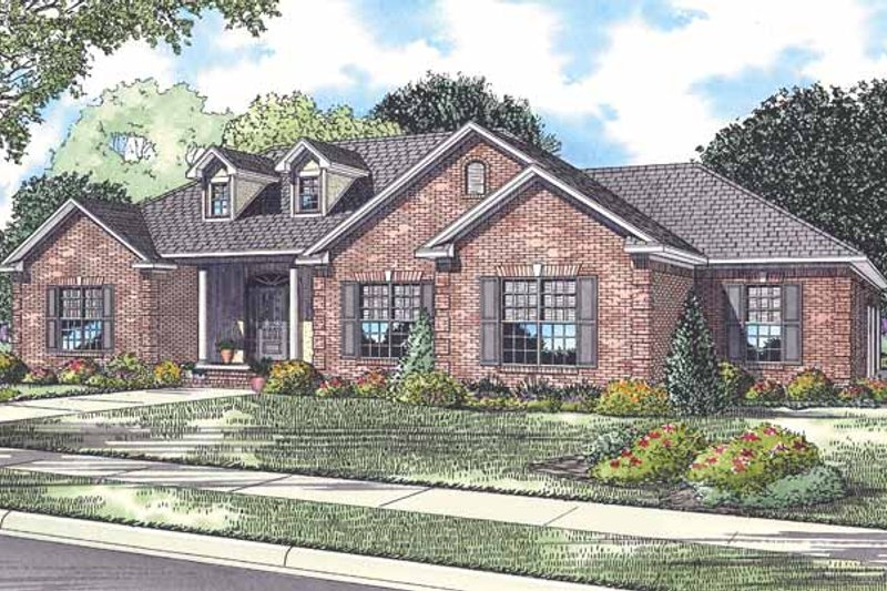 Country Exterior - Front Elevation Plan #17-2913 - Houseplans.com