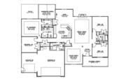 Ranch Style House Plan - 4 Beds 2 Baths 2373 Sq/Ft Plan #1064-8 Floor Plan - Main Floor Plan