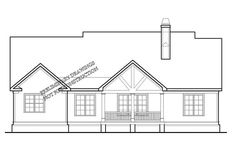 Traditional Exterior - Rear Elevation Plan #927-968 - Houseplans.com