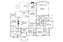 Ranch Floor Plan - Main Floor Plan Plan #929-1016
