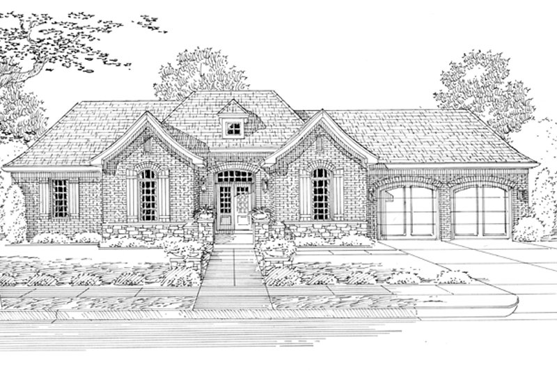 Country Exterior - Front Elevation Plan #46-821 - Houseplans.com