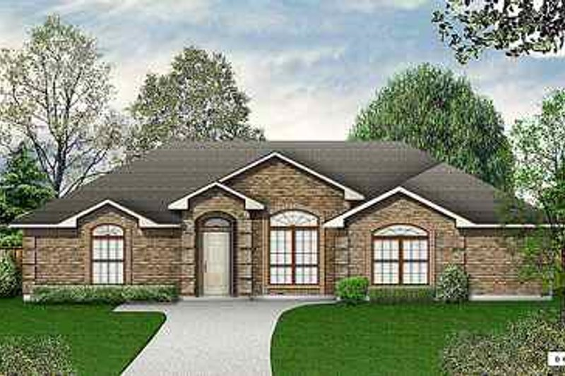 Traditional Exterior - Front Elevation Plan #84-133 - Houseplans.com