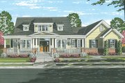 Traditional Style House Plan - 4 Beds 2.5 Baths 2410 Sq/Ft Plan #46-852 Exterior - Front Elevation