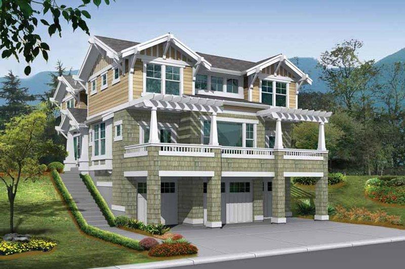 Craftsman Exterior - Front Elevation Plan #132-236