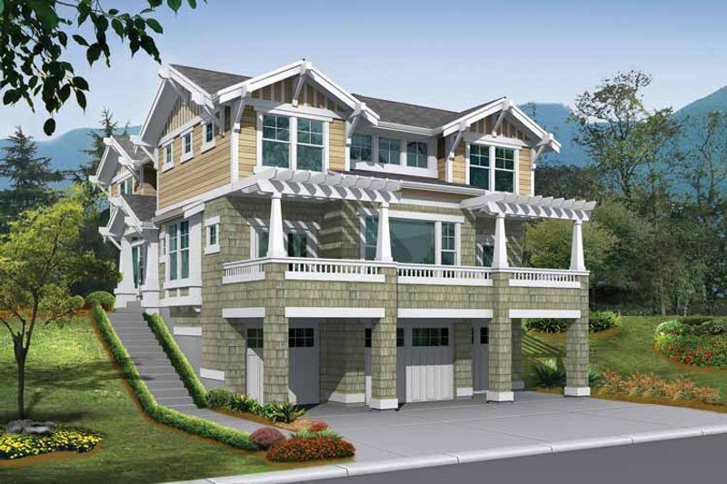 Craftsman Exterior - Front Elevation Plan #132-236