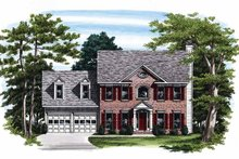 Home Plan - Classical Exterior - Front Elevation Plan #927-72