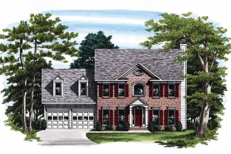 Classical Exterior - Front Elevation Plan #927-72