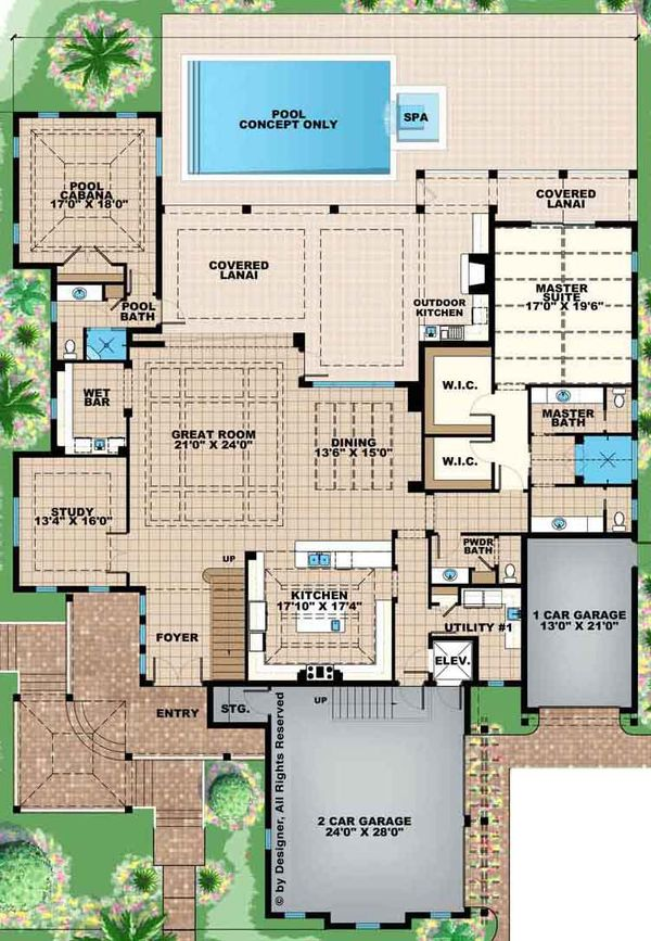 Country Floor Plan - Main Floor Plan Plan #1017-157