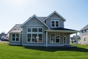 Farmhouse Style House Plan - 3 Beds 2.5 Baths 1854 Sq/Ft Plan #1070-26 Exterior - Rear Elevation
