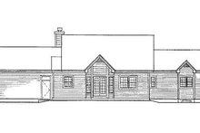 Traditional Exterior - Rear Elevation Plan #3-111