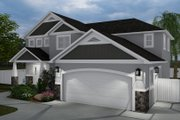 Craftsman Style House Plan - 4 Beds 2.5 Baths 2473 Sq/Ft Plan #1060-57 Exterior - Front Elevation