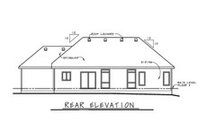 House Plan Design - Ranch Exterior - Rear Elevation Plan #20-2294