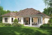 Country Style House Plan - 3 Beds 2 Baths 1555 Sq/Ft Plan #938-3 Exterior - Rear Elevation