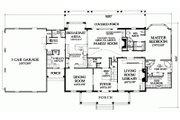 Colonial Style House Plan - 4 Beds 3 Baths 4263 Sq/Ft Plan #137-247 Floor Plan - Main Floor Plan
