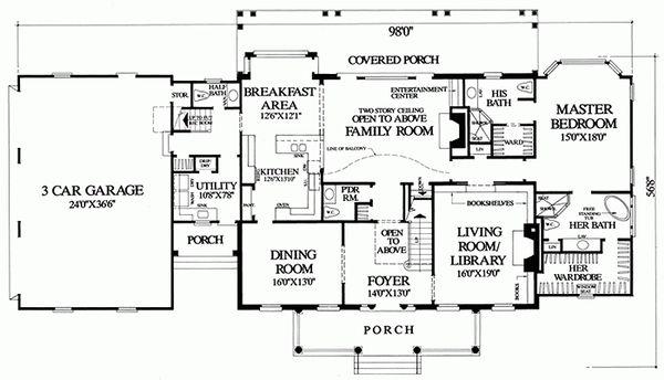 Colonial Floor Plan - Main Floor Plan Plan #137-247