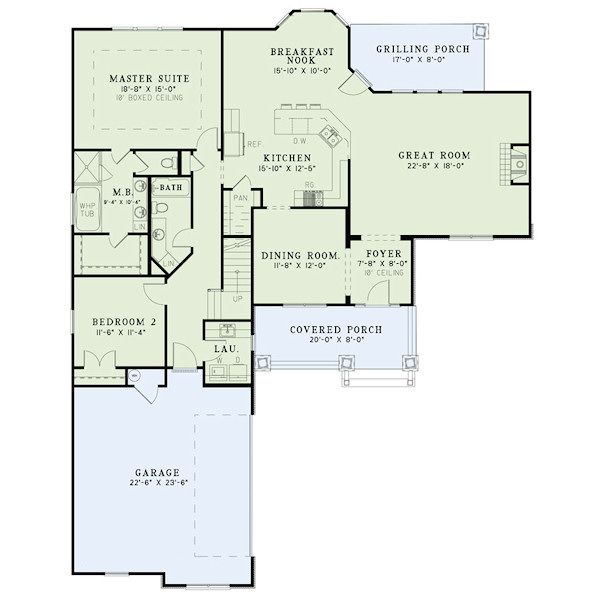 House Plan Design - European Floor Plan - Main Floor Plan #17-2414