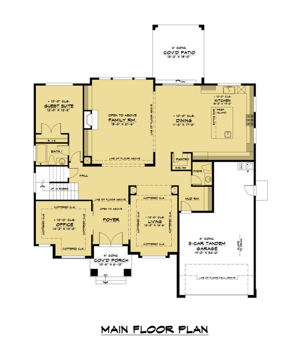 Home Plan - Contemporary Floor Plan - Main Floor Plan #1066-125