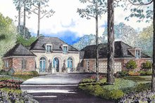 Home Plan - European Exterior - Front Elevation Plan #301-114