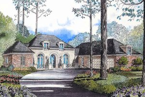 European Exterior - Front Elevation Plan #301-114