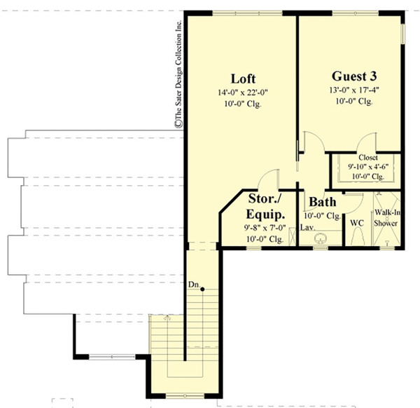 Contemporary Floor Plan - Upper Floor Plan Plan #930-504