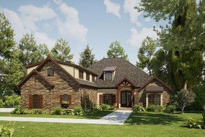Craftsman Exterior - Front Elevation Plan #923-168
