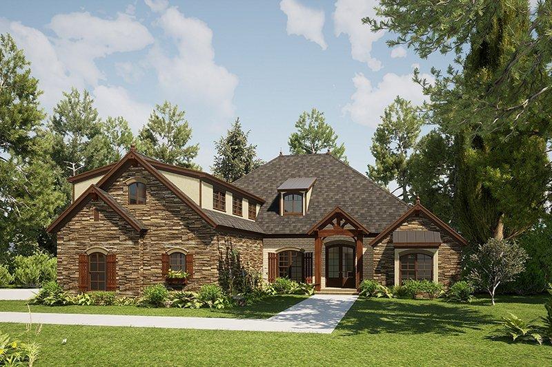 Architectural House Design - Craftsman Exterior - Front Elevation Plan #923-168