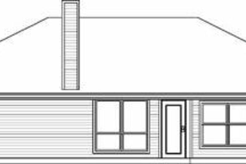Traditional Exterior - Rear Elevation Plan #84-112 - Houseplans.com