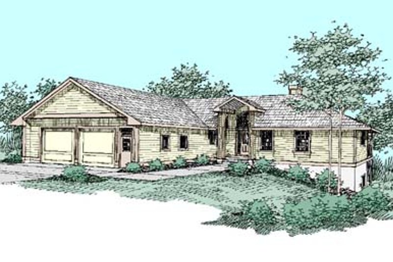 Traditional Exterior - Front Elevation Plan #60-432 - Houseplans.com