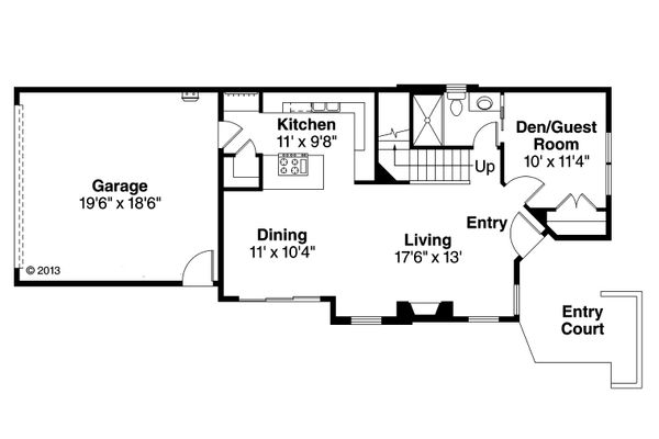 House Plan Design - Floor Plan - Main Floor Plan #124-1004