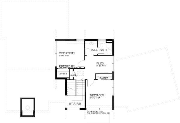 Modern Floor Plan - Upper Floor Plan Plan #895-24