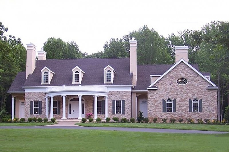 Classical Exterior - Front Elevation Plan #137-127 - Houseplans.com