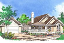Dream House Plan - Country Exterior - Front Elevation Plan #929-54