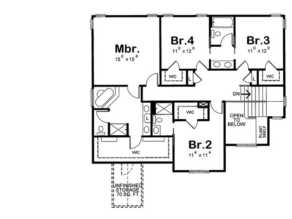 Dream House Plan - Craftsman house plan, floorplan