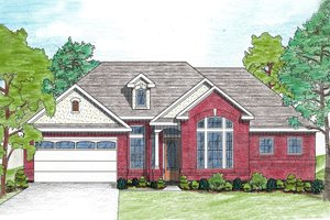 Architectural House Design - Traditional Exterior - Front Elevation Plan #80-108