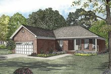 Ranch Exterior - Front Elevation Plan #17-2846