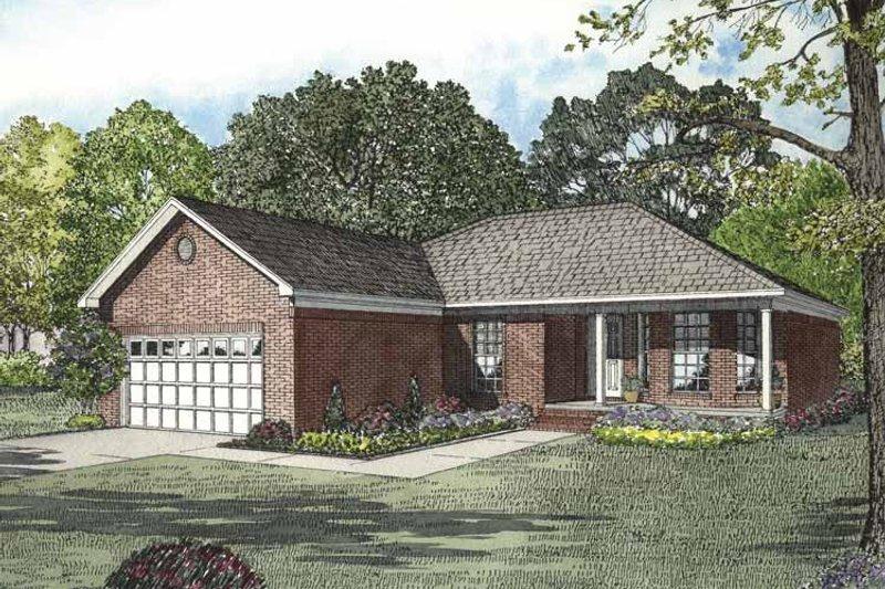 Ranch Exterior - Front Elevation Plan #17-2846 - Houseplans.com