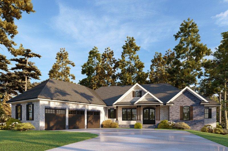 Dream House Plan - Modern Exterior - Front Elevation Plan #437-130