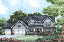 Home Plan - Craftsman Exterior - Front Elevation Plan #20-2122