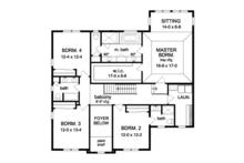 Colonial Floor Plan - Upper Floor Plan Plan #1010-66