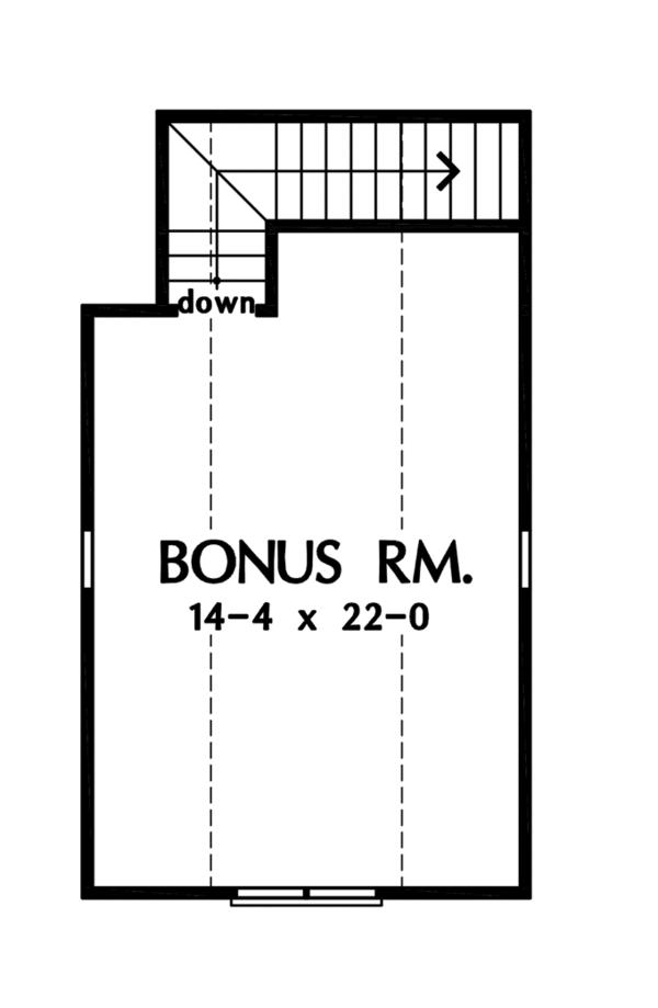Craftsman Floor Plan - Other Floor Plan Plan #929-934