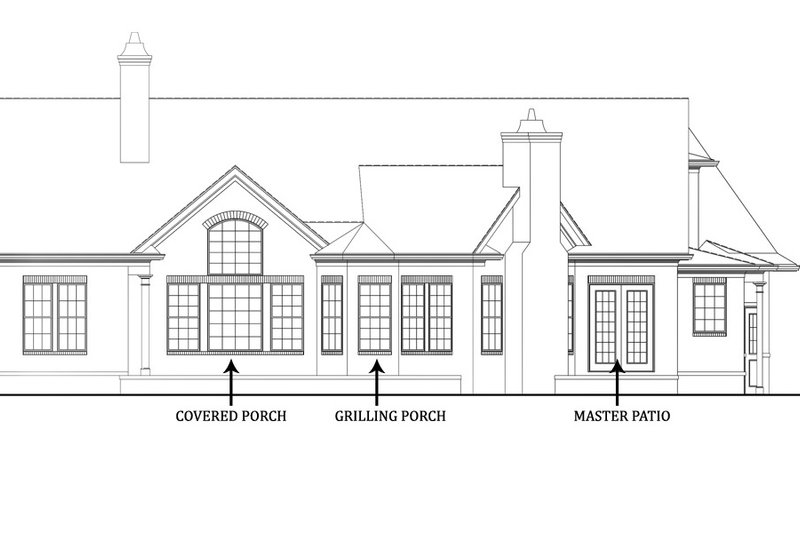 Craftsman Exterior - Rear Elevation Plan #119-369 - Houseplans.com