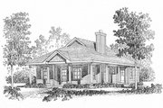 Cottage Style House Plan - 2 Beds 2 Baths 1158 Sq/Ft Plan #22-569 Exterior - Front Elevation